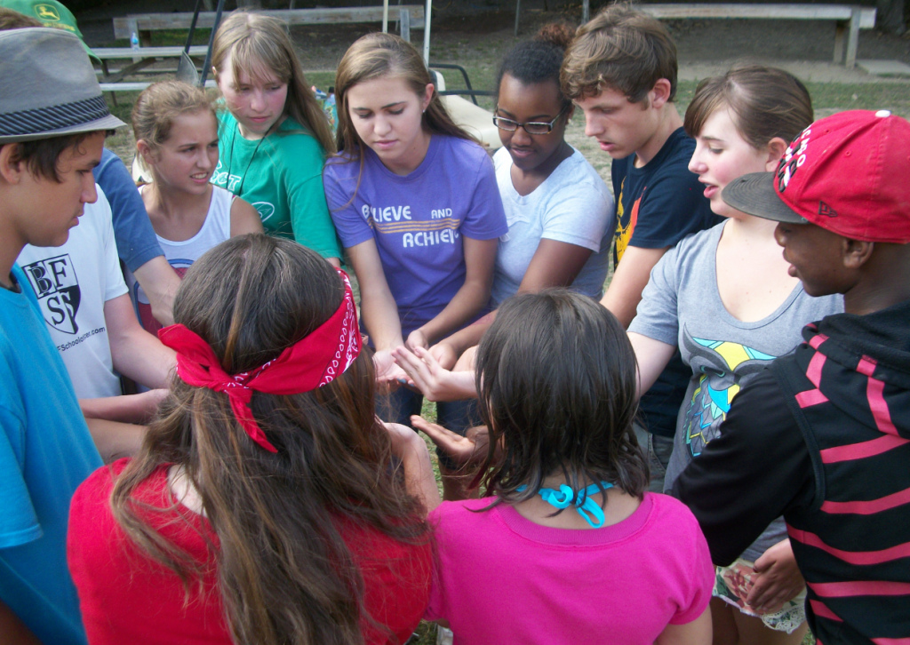 Team building at Grace Bible Camp
